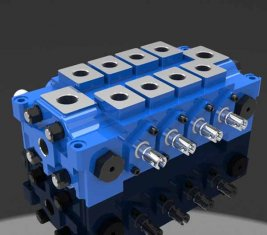 China Multiple Hydraulic Combined Directional Control Valve DL for Engineering supplier