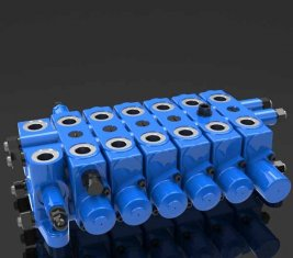 China Multi - way Hydraulic Relief Combination Directional Control Valve DL supplier
